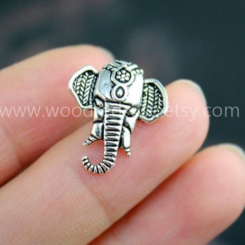 Tiny Elephant Tragus Earring Jewelry,Elephant post earrings,Elephant Helix Cartilage jewelry