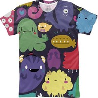 Colorful Creatures Women's T-Shirts by Mjdaluz   Nuvango