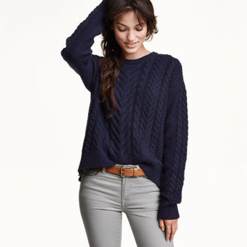 H&M Cable-knit Wool-blend Sweater $39.99