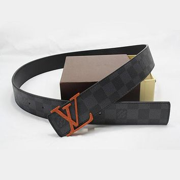 Day-First™ LV Woman Fashion Smooth Buckle Belt Leather Belt