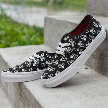 CREYONS Trendsetter VANS X Disney Mickey Mouse Canvas Old Skool Flats Sneakers Sport Shoes