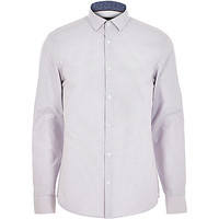 River Island MensLight purple dobby textured shirt