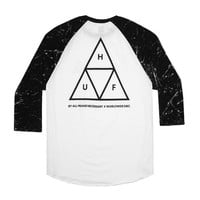 HUF - HUF TRIANGLE RAGLAN // WHITE / BLACK