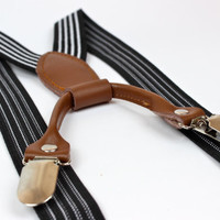 Toddler/Baby  Black Striped Suspenders by HaddonCo on Etsy