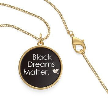 Black Dreams Matter Single Loop Necklace