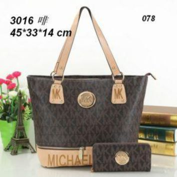 MK BAG WOMEN HANDBAG SHOULDER BAG TOTES +WALLET MK0001
