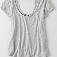 AEO Women's Don't Ask Why Scoop Back T-shirt