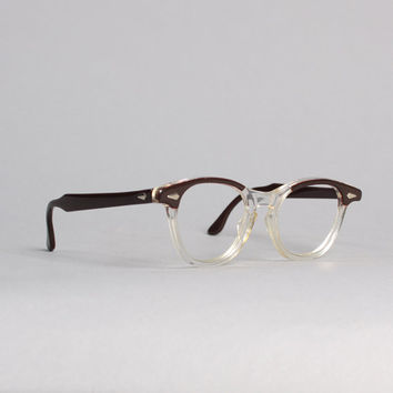 60s TART Arnel GLASSES / Iconic Redwood & Clear Eyegalasses Frames