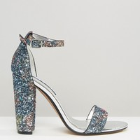Steve Madden Carrson Glitter Barely There Heeled Sandals at asos.com