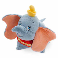 disney parks dumbo flying elephant reverse pillow pet plush new with tag
