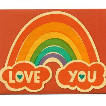 Love Rainbow Card