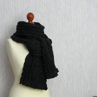 Long Scarf Mens Scavres CHARCOAL Scarf Women Fashion Winter Accessories