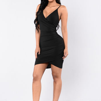 Women In Love Dress - Black