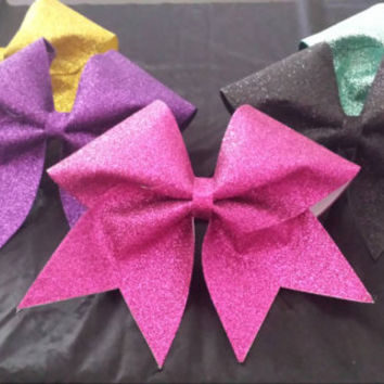 Glitter cheer bows!  Available in many colors!