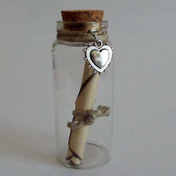 Message in a Bottle, All Occasions, Handwritten, Handmade, Poem, Wedding, Letter,  Anniversary, Special Note, Message to a Soldier