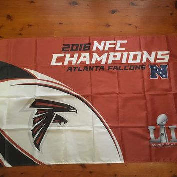 3ft x 5ft 3 x5ft Atlanta falcons american foot ball leag Mancave flag wall print Polyester banner flag Size 150*90cm