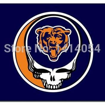 Chicago Bears Stealing Your Face  flag150X90CM Banner 100D Polyester flag brass grommets 001, free shipping