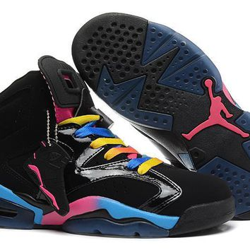 Air Jordan 6 Retro Aj6 Vi Black Colorful Sport Sneaker Us 5.5-13 - Beauty Ticks