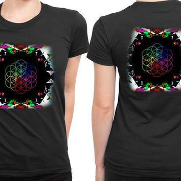 CREYH9S Coldplay A Head Full Of Dreams Cover Album Invert 2 Sided Womens T Shirt