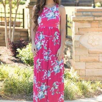 Perfectly Pink Floral Maxi Dress