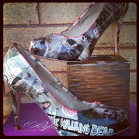 Walking Dead Shoes prints not vintage by FaithisFabulous on Etsy