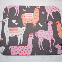 llamas Mouse Pad mousepad / Mat - Rectangle or round