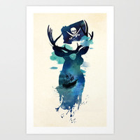 Captain Hook Art Print by Robert Farkas