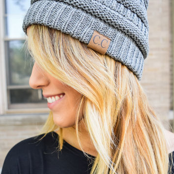 Powder Day Beanie Heather Grey