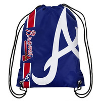 Atlanta Braves Official MLB Team Logo Drawstring Backpack