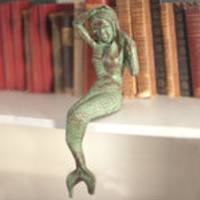 Antique Green Cast Iron Mermaid | Candy's Cottage