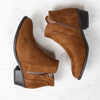 block heel ankle booties - more colors