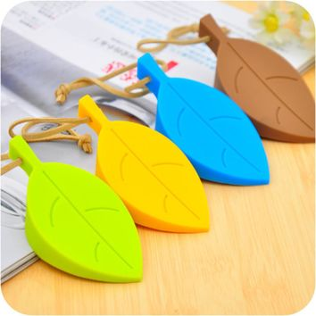 Convenient Silicone Leaves Design Door Stop Stopper Guard Baby Safety Protector Home For Children Brand New