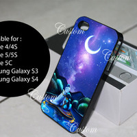aladdin and princess jasmine under the moon in the river galaxy iphone, ipod and samsung galaxy cases