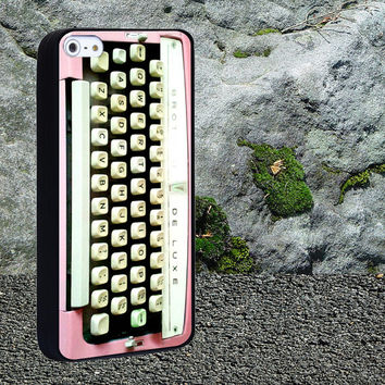 brother typewriter pink Case for iPhone 4/4s,iPhone 5/5s/5c,Samsung Galaxy S3/s4 plastic & Rubber case, iPhone Cover