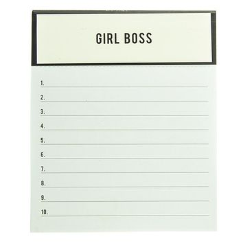Girl Boss List Jotter Notepad