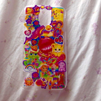 Lisa Frank Samsung Galaxy s5 90s Inspired Phone Case kawaii Plastic Phone Case