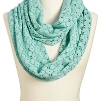 Old Navy Womens Crochet Overlay Jersey Infinity Scarves Size One Size - Mint green