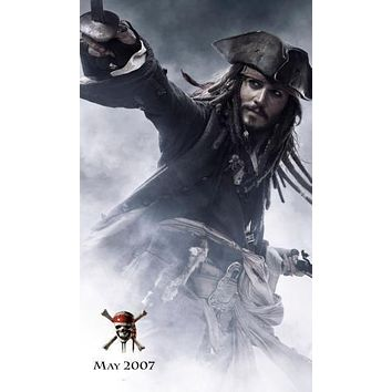 Pirates Of The Caribbean Johnny Depp movie poster Sign 8in x 12in