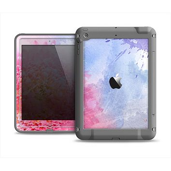 The Pink to Blue Faded Color Floral Apple iPad Air LifeProof Fre Case Skin Set