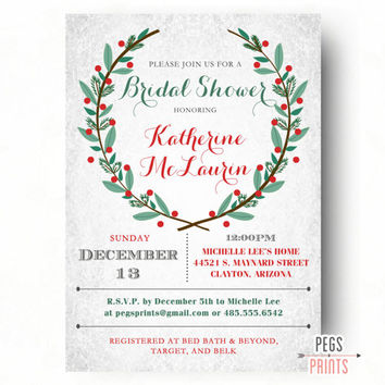 Best winter wonderland invitations products on wanelo christmas bridal shower invitations winter bridal shower invite winter bridal shower invitations filmwisefo Choice Image