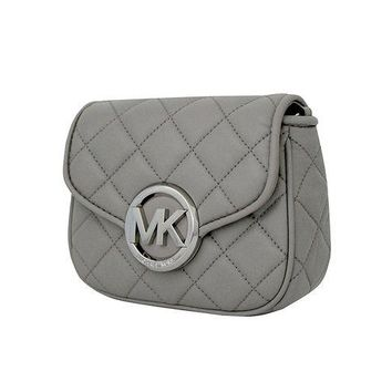 VONW3Q MICHAEL Michael Kors Women's FULTON QUILT SMALL FLAP LEATHER CROSSBODY PURSE