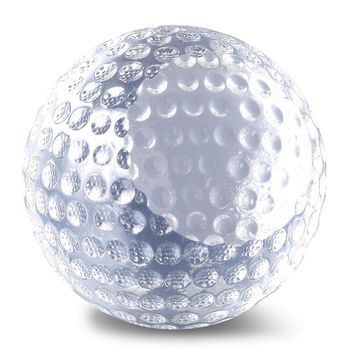 Glass Golf Ball Award Paperweight - Etching Personalized Gift Item