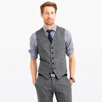 J.Crew Mens Ludlow Suit Vest In English Donegal Tweed