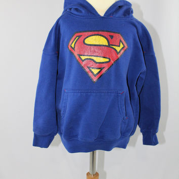Boys Superman Hooded Sweatshirt, size XS