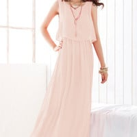 Sleeveless Chiffon Maxi Dress