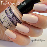 "10ml Nail Polish - ""Peach Creme"" - creamy pinky peach nail polish with a semi-matte finish - hand blended"