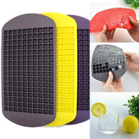 160 Grids DIY Creative Small Ice Cube Mold Square Shape Silicone Ice Tray Fruit Ice Cube Maker Bar Kitchen Accessories GD132