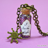Tangled (Rapunzel), I See The Light Magic Necklace with a Sun Charm Bronze