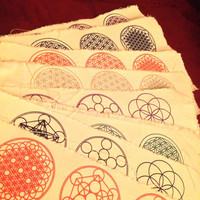 NEW COLORS Sacred geometry patches