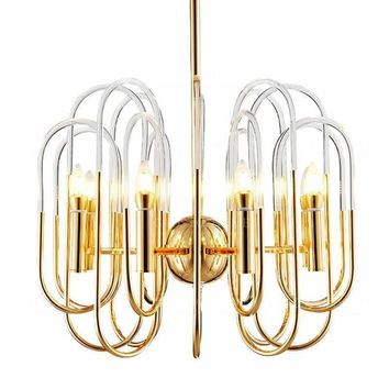 Modern LED Chandelier Lights Lamp For Living Room acrylic lampshade Toolery Chandeliers Lighting Pendant Hanging Ceiling Fixture